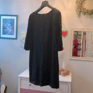 Tahari black lace dress